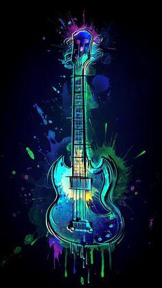 Graffiti Wallpaper Iphone, Neon Wallpaper, Colorful Wallpaper, Guitar Wall Art, Guitar Drawing, Music Drawings, Music Artwork, Musik Wallpaper, Musik Illustration