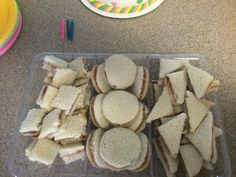 """Super shape"" sandwiches for team umizoomi party!"