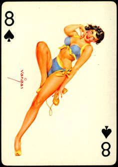 Alberto Vargas - Pin-up Playing Cards (1950) - 8 of Spades