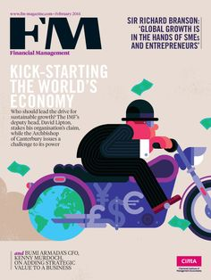 Take the money and run… A cover for CIMA's FM magazine, and an animated version for the app. The cover line I worked off was ...