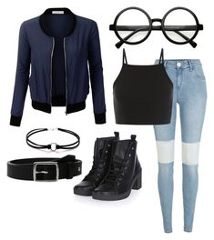 """""""Untitled #629"""" by pandasdream ❤ liked on Polyvore featuring LE3NO, River Island, Topshop, Retrò and rag & bone"""