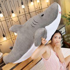 Kawaii Pastel Jumbo Shark Plush (90cm) - Special Edition - KawaiiTherapy Kawaii Bunny, Kawaii Plush, Cactus Lamp, Shark Plush, Plush Animals, Plushies, Cute Gifts, Cherry Blossom, Dinosaur Stuffed Animal