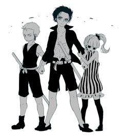 Zoro, Mihawk and Perona #one piece