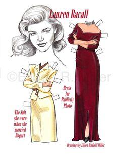 Lauren Bacall Commemorative Paper Doll