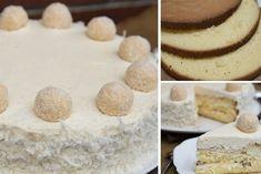 Fantastický raffaello krém do různých dezertů Vanilla Cake, Cheesecake, Baking, Den, Raffaello, Vanilla Sponge Cake, Cheesecake Cake, Bread Making, Patisserie