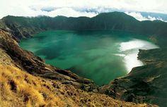 Quilotoa crater lake Ecuador