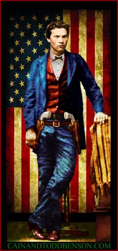 "John Wesley Hardin Portrait ""The Deadliest Gunslinger"". Digital art."