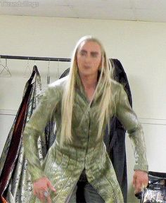 """No, Legolas, you CANNOT borrow the Elk tonight!"" >>Lee is obviously still in Thrandy mode! jf"