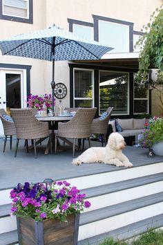 Summer patio decorating ideas. Lots of tips and tricks to make the most out of your patio space. #patiodecor #patiodesign #patiofurniture #outdoordecor