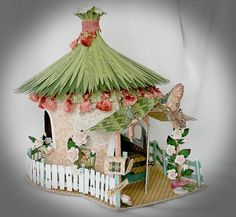 I am so in love with this little Fairy House