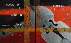 Acrylic poster on canvas  diptych 80cmx50cm