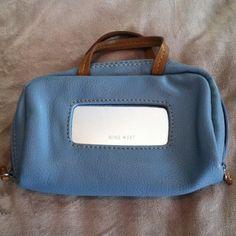 Mini purse NWOT mini light blue and tan mini purse. Super cute. Never used. Nine West Bags