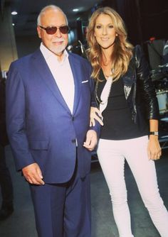 Celine and Rene backstage at the Billboard Music Awards on May 19th, 2013. They are such a classy and sophisticated couple and Celine looks gorgeous.