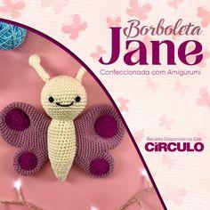 Com o fio Amigurumi e muita imaginação você pode criar os mais diversos bichinhos de crochê. A Borboleta Jane ganhou vida com as cores e a maciez desse fio especial. Clique na foto para conferir a receita completa.