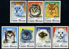 Guinea Bissau Stamps - Sc.# 647-53 - Cats