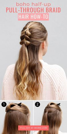 Keep your hairstyle effortlessly stylish with this gorgeous, relaxed half-up hairstyle.