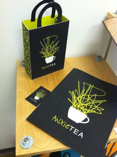 logo / Anxie-Tea.      Is that even possible?