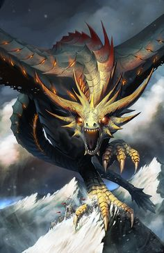 MOUNTAIN CRIMSON DRAKE Created by Brian Joseph P. Valeza (Totmo Arts Studio 2) / Find this artist on DeviantArt & CGSociety