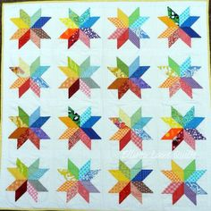This starflower block quilt is so cute!  I'm not a quilter, but I think I might need to make one of these.