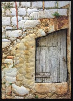 where fiber art meets quilting Fabric Art, Fabric Crafts, Wall Fabric, Southwest Quilts, Origami, House Quilts, Barn Quilts, Quilt Modernen, Rustic Doors