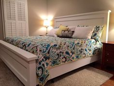 First Build! Farmhouse King Bed   Do It Yourself Home Projects from Ana White