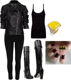 Batman Inspired, created by amk109716 on Polyvore