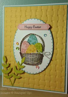ellen vargo designs: Basket Weave Easter Card