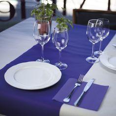 #Camino de #mesa de #novotex con #servilleta de #papel a conjunto en color #lila