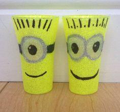Minion shot glasses £3.50 each www.facebook.com/TLCglitterglasses