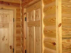 Log Cabin Siding direct from the manufacturer in Flomaton, AL - Southern Wood Specialties - P: 251-296-2556 Log Cabin Siding, House Siding, Log Cabin Homes, Log Cabins, Heart Pine Flooring, Pine Floors, Cabin Interior Design, Luxury Interior, Interior Decorating