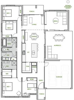 The Mapleton offers the very best in energy efficient home design from Green Homes Australia. Take a look at the floor plan here.
