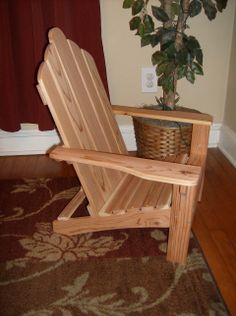 Brianna's cedar child's Adirondack chair.