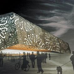 """Modern Architecture - Polish """"Paper Cut-out"""" Pavilion: 2010 Shanghai Expo - My Modern Metropolis 