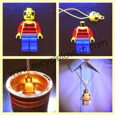 DIY Recycler les jouets des enfants. (http://www.recyclelovers.com/2013/05/how-to-recycle-lego-into-vintage-jewelry.html)