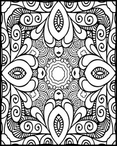 Free Adult Coloring, Adult Coloring Book Pages, Free Coloring Pages, Coloring Sheets, Coloring Books, Black White Pattern, White Patterns, Paisley Tattoos, Doodle Pages