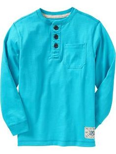 Boys Patch-Graphic Henleys   Old Navy