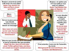Dialogue : Au téléphone-allemand