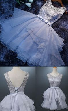 Short Prom Dresses, White Prom Dresses, Lace Prom Dresses, Prom Dresses Short, White Lace Prom dresses, Lace Homecoming Dresses, Short Homecoming Dresses, White Lace dresses, White Party Dresses, Short White Dresses, Lace Up Prom Dresses, Bowknot Prom Dresses, Mini Homecoming Dresses, Round Party Dresses