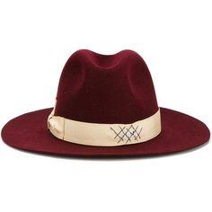 Borsalino Borsalino Borsalino X Nick Fouquet Fedora (£800) ❤ liked on Polyvore featuring accessories, hats, red, borsalino fedora, red fedora, fedora hat, borsalino and red fedora hat