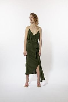 Product Details:A classic Miss Crabb dress. Simple, modern full bias cut wrap dress which can be worn both ways - with cross over at the Khaki Dress, Summertime, Wrap Dress, Collection, Dresses, Anna, Fashion, Vestidos, Moda