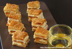 millefoglie salato con crema al formaggio e curry