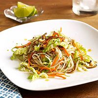 Soba Noodles with Sesame-Lime Dressing - I added pea pods and cashews.  Very good!