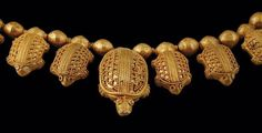 Detail of Gold Necklace with Turtle Pendants Vani, mid-5th century B.C. Chain length: 68 cm; Pendant height: 3 cm Georgian National Museum