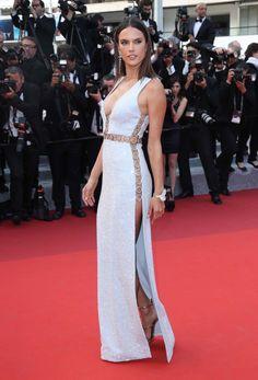 Alessandra Ambrosio at Cannes.