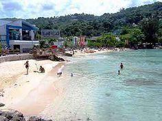 The beach at Margaritaville, Jamaica