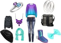 """""""Purple and Blue Is The Way To Go."""" by mckalawilliams on Polyvore"""