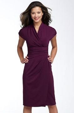 Ivy & Blu Ruched Faux Wrap Dress available at #Nordstrom