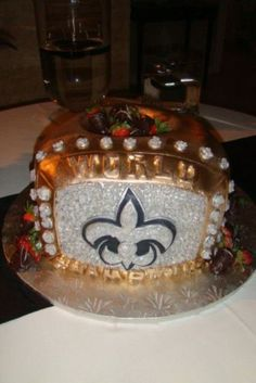 Grooms Cake Ever New Orleans Saints