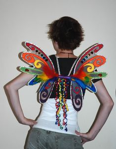 RAINBOW WINGS with tutorial and lots of step-by-step pictures!!!