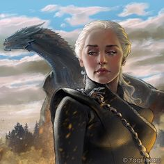 "(@yagi.hikaru.art): ""Dracarys! ☄️ @gameofthrones If you like my art please consider to support me in Patreon! Link in…"""